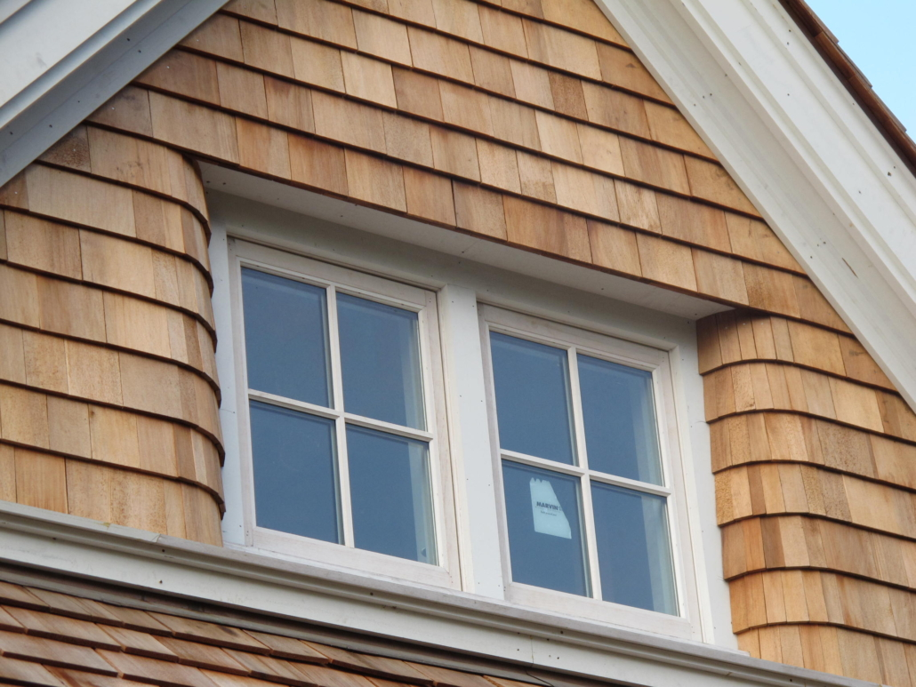 Inset Window with Curved Siding