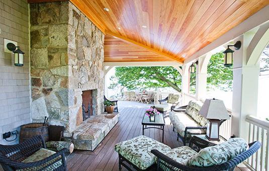 Burrage porch - Magnolia MA