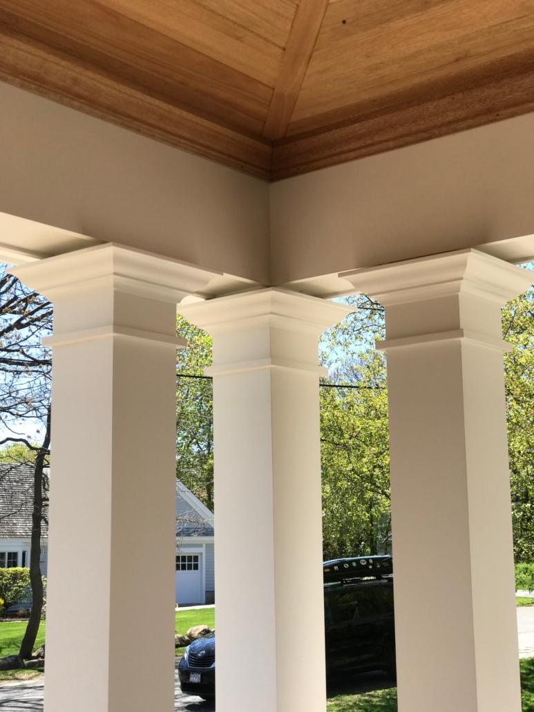 Kelly Porch Columns - Rockport MA