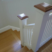 Interior wood stairs, posts and rails - Rockport MA