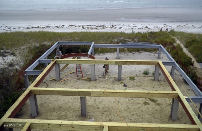 Steel and wood framing